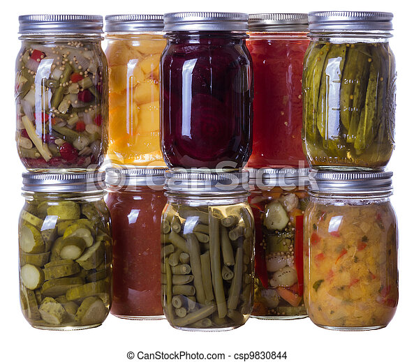 Homemade preserves and pickles - csp9830844