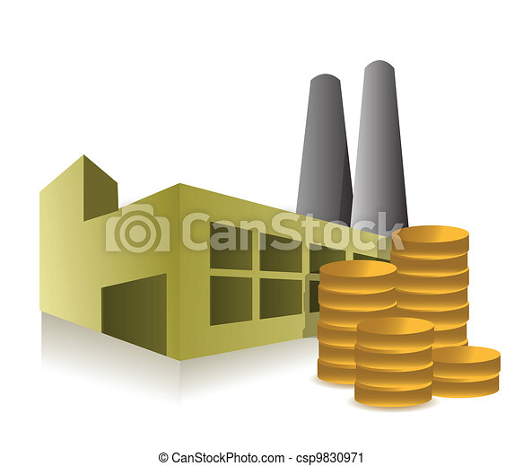 factory and profits illustration - csp9830971