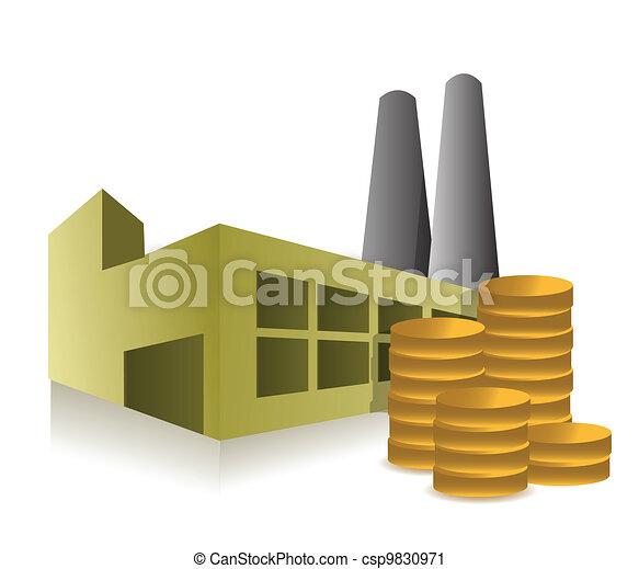factory and profits illustration - csp9830971