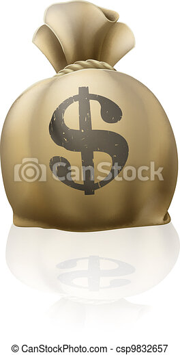 Dollar money sack - csp9832657