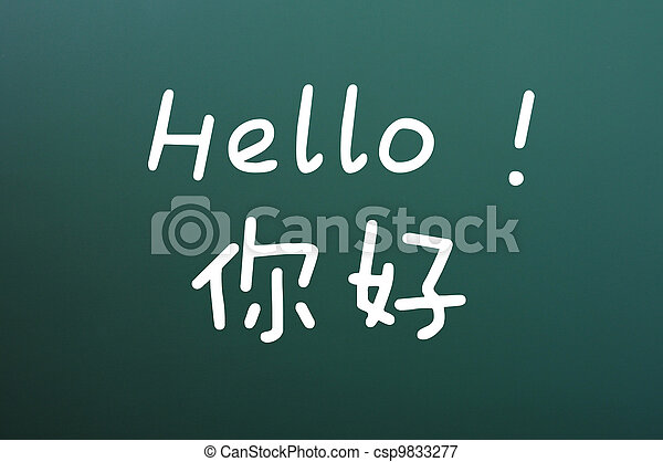 Hello with Chinese characters - csp9833277