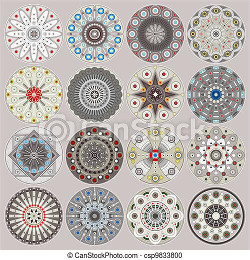 Ornamental circles decors - csp9833800