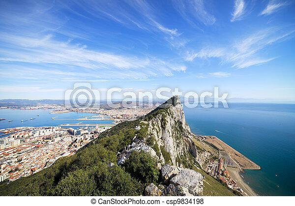 Gibraltar Rock Bay and Town - csp9834198
