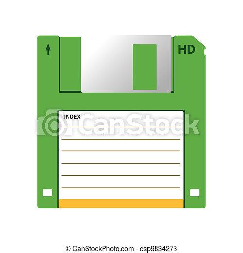 HD diskette old data media - csp9834273