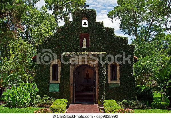 Historic Church St Augustine - csp9835992