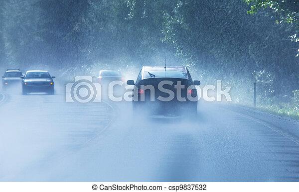 雨 - csp9837532