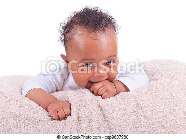 newborn baby african american - csp9837980