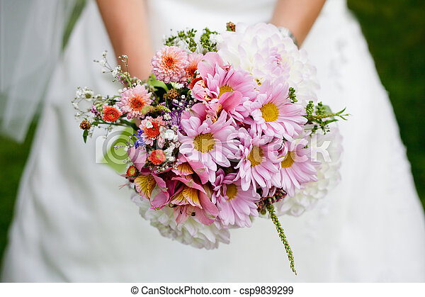 Wedding bouquet with dill - csp9839299