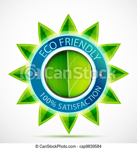 Eco friendly flower label - csp9839584