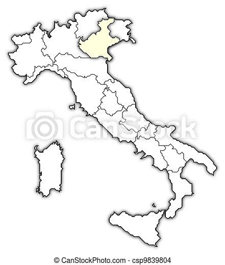 Mapa It%C3%A1lia Veneto Destacado 9839804