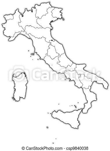 Kleurplaat Kaart Europa Vector De Mapa Italia Pol 237 Tico Mapa De Italia Con