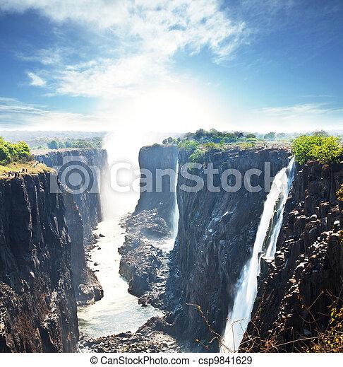 Victoria waterfall - csp9841629