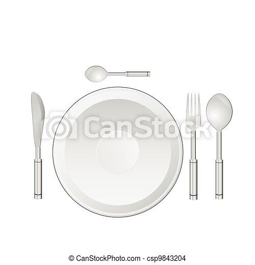 dinner service vector illustration - csp9843204