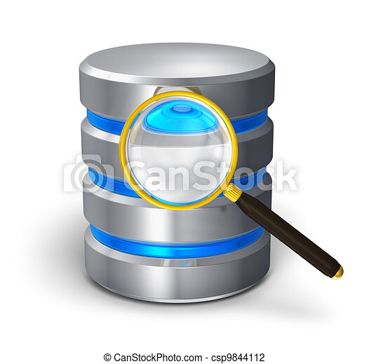 File search and hard disk diagnostics concept - csp9844112