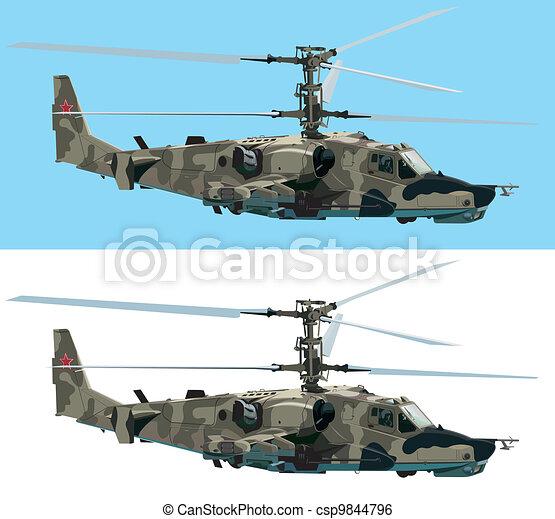 Combat helicopter - csp9844796