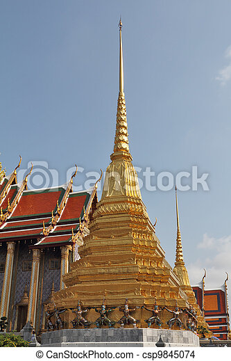 The gilded temple - stupa - csp9845074