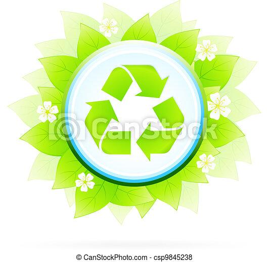 Recycling Symbol - csp9845238