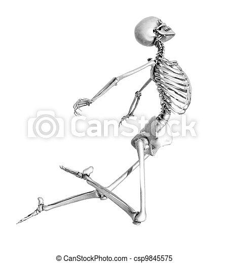 Esqueleto Dibujo a Lapiz Esqueleto Saltar Lápiz