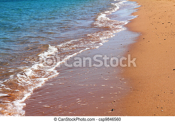 sand beach and edge of sea - csp9846560