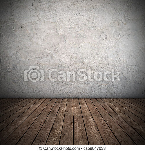 Empty interior with dirty wall - csp9847033