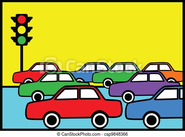 Traffic Jam - csp9848366