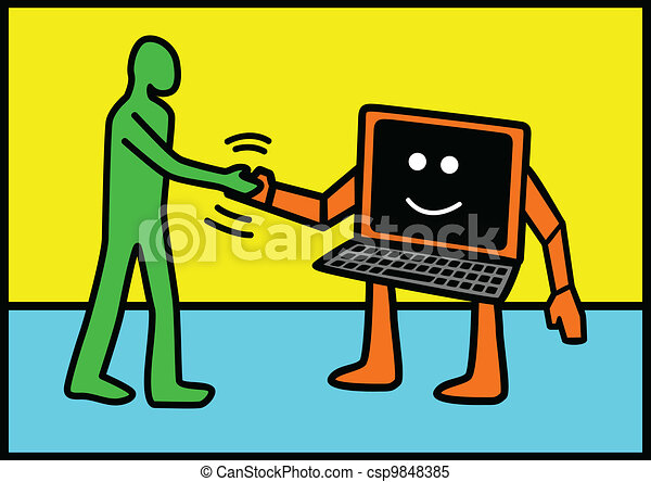 Human and Technology - csp9848385