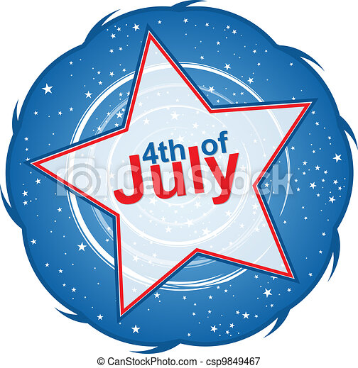 Independence Day Title - csp9849467