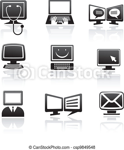 set of computer icons - csp9849548