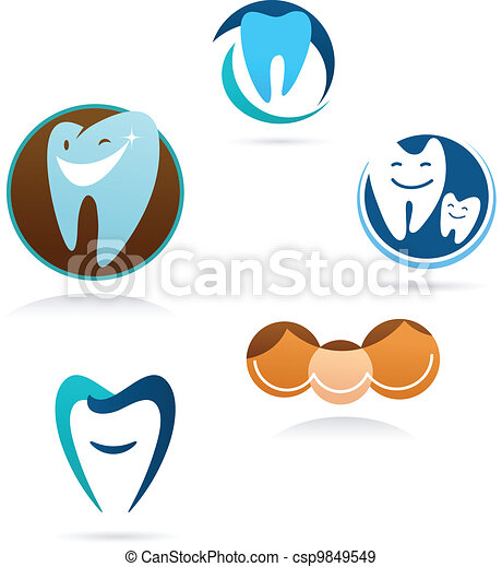 collection of dental clinic icons - csp9849549