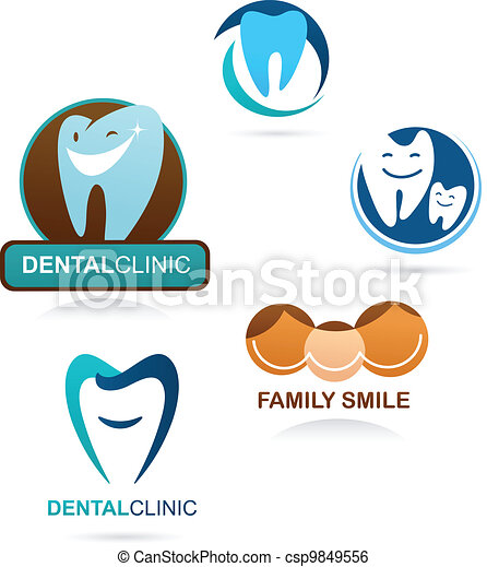 collection of dental clinic icons - csp9849556