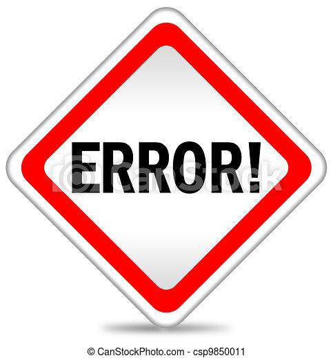 Error icon - csp9850011