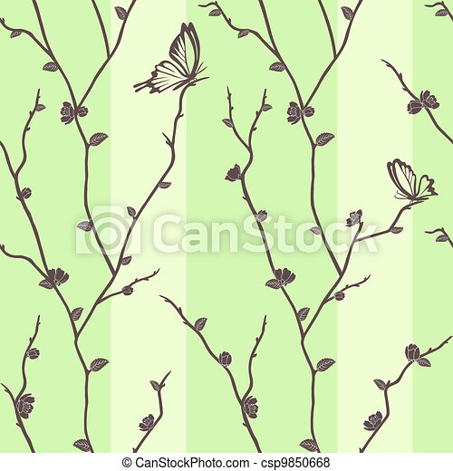 Vector seamless pattern with butter - csp9850668