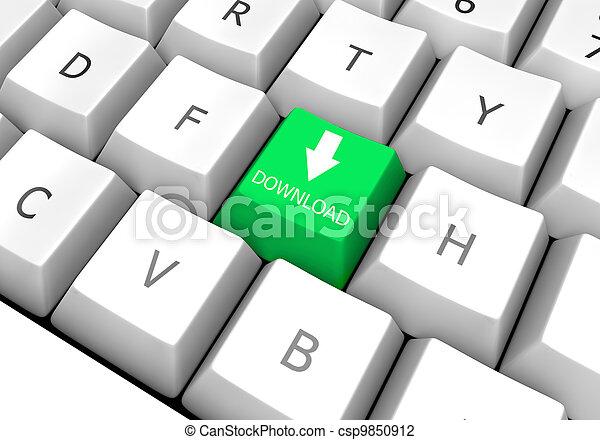 File transfer key on pc keyboard (Download) - csp9850912