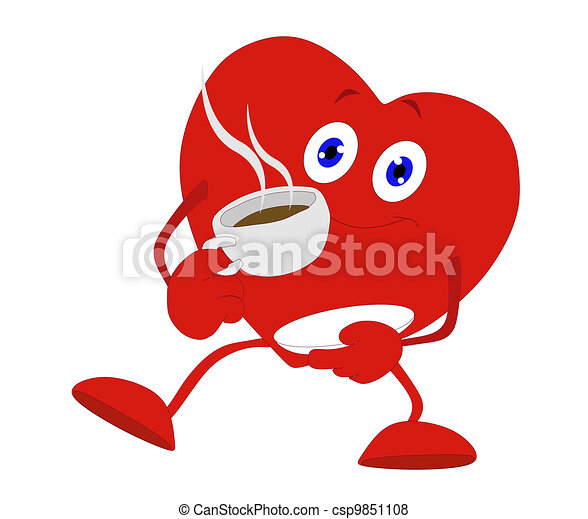 Warming your heart with Tea and or  - csp9851108