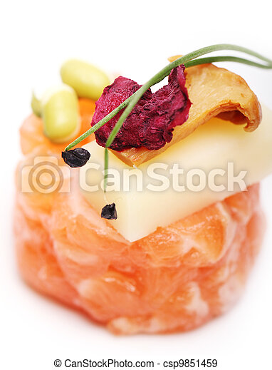 Delicious gourmet food - csp9851459