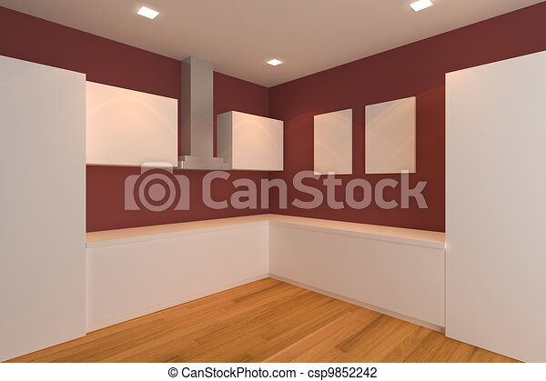 wall in room clip art clip art of red kitchen room empty interior design for kitchen