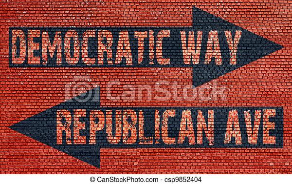 Election choice conceptual - csp9852404
