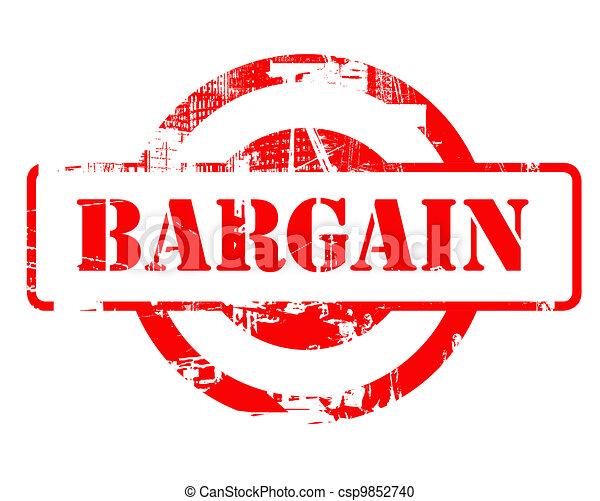 Bargain red stamp - csp9852740