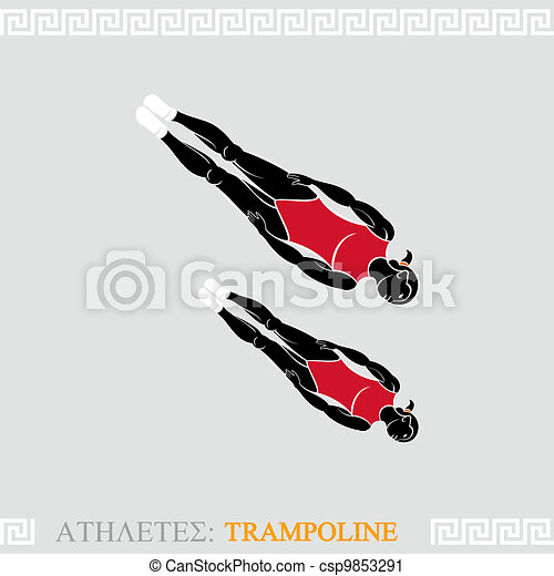 Athlete Trampoline Gymnast - csp9853291