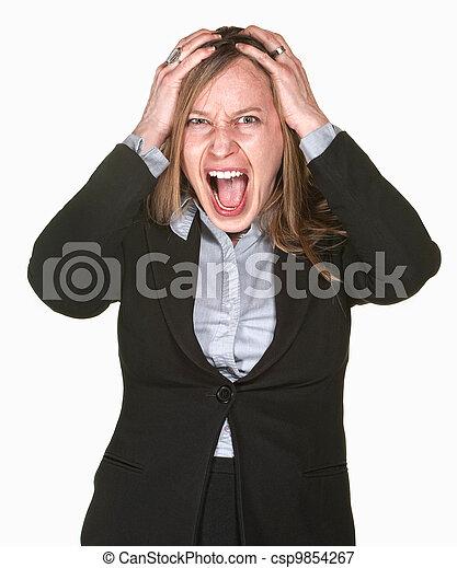 Screaming Businesswoman - csp9854267