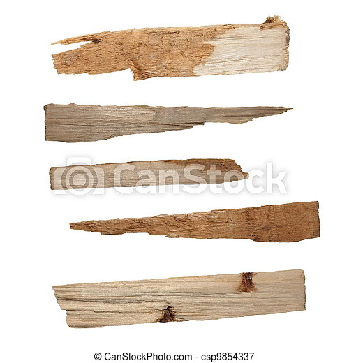 Collection pieces of broken planks - csp9854337