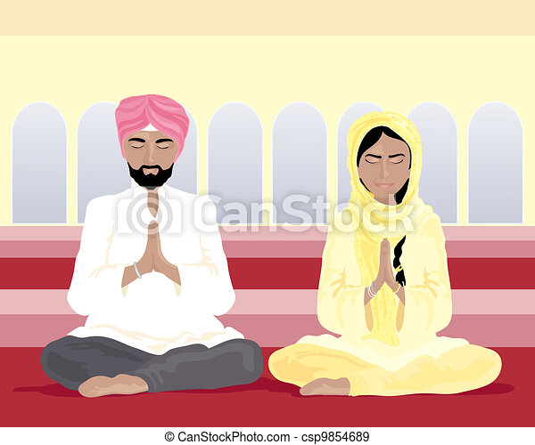 sikh prayer - csp9854689