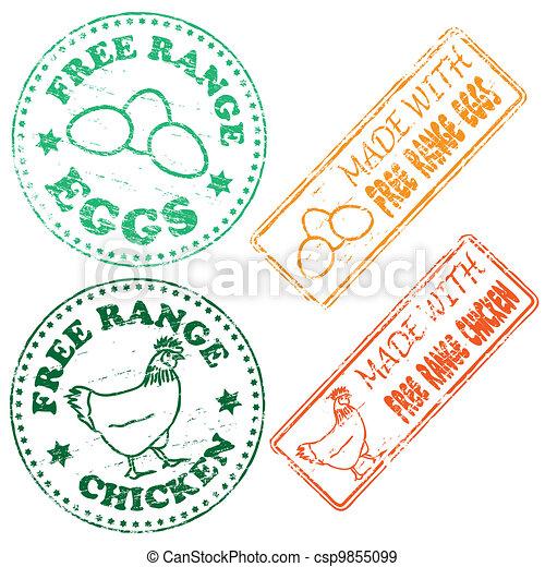 Free Range Stamp - csp9855099