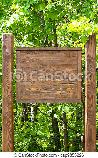Wooden sign - csp9855226