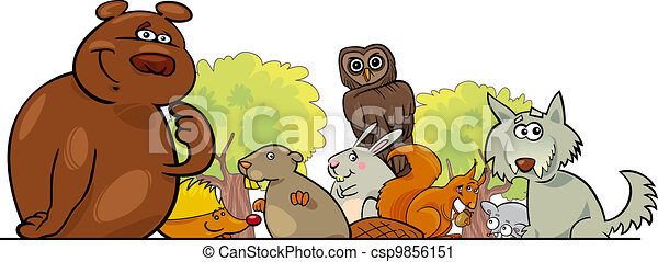 Cartoon forest animals design - csp9856151