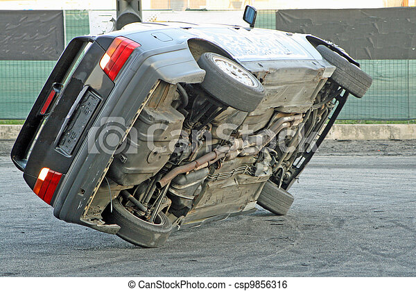 car during tests of balance in an automobile race - csp9856316