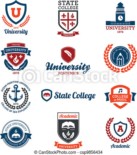 University and college emblems - csp9856434