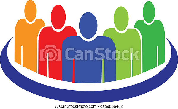 People logo vector - csp9856482