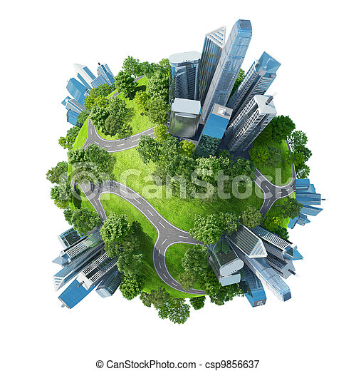 Conceptual mini planet green parks - csp9856637