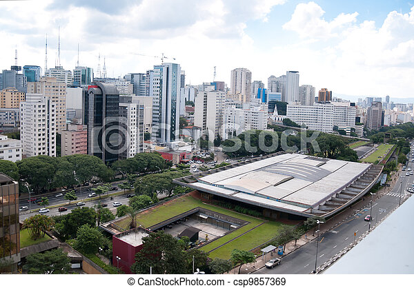 aerial view of the cultural center of sao paulo - csp9857369